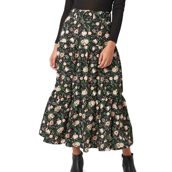 NWT NA-KD Floral Midi Skirt